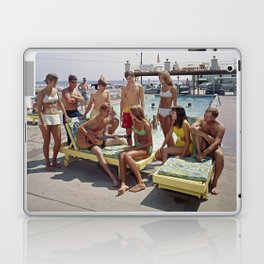 1960's teenagers playing guitar and singing by the Gondolier Motel pool, Wildwood, NJ Laptop & iPad Skin