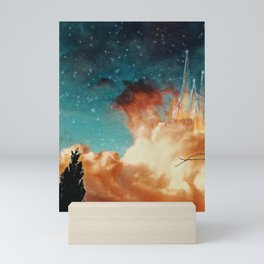 Seeing a City in the Clouds Mini Art Print