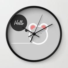 Hello Pets no.2 Wall Clock