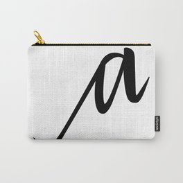 Lowercase Script. 'a' Carry-All Pouch