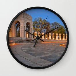 Washington DC World War II Memorial Wall Clock