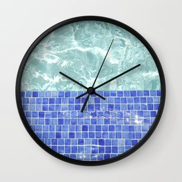 Pool Days Wall Clock