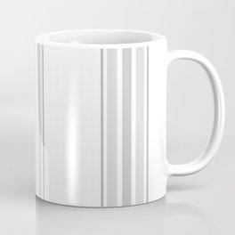 Farmhouse Ticking Stripes in Gray on White Coffee Mug