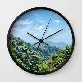 Cloud Forest Vista Wall Clock