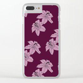 Lily The Tiger - Purple Clear iPhone Case