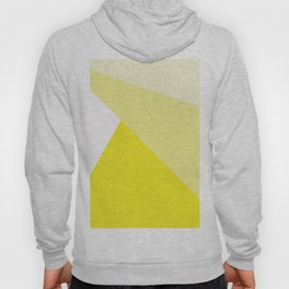 Simple Geometric Triangle Pattern - White on Yellow - Mix & Match with Simplicity of life Hoody