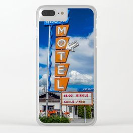 The Ranch House Motel, Vintage Motel Signs, Bozeman, Montana Clear iPhone Case