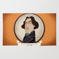 oscar wilde Area & Throw Rugs featuring Oscar Wilde said... by Mrs Peggotty
