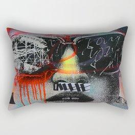 Graffiti Wall NYC Rectangular Pillow