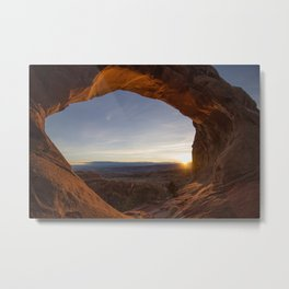 Sunrise at Partition Arch I Metal Print