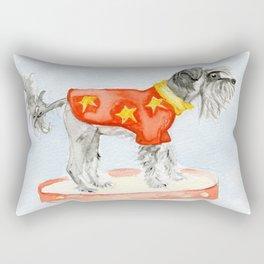 Starry Scruffy Schnauzer Rectangular Pillow
