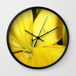 Yellow Tiger Lily Wall Clock