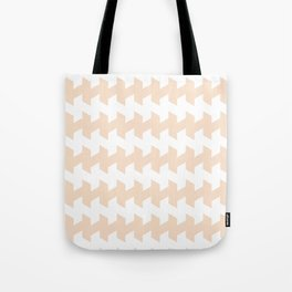 jaggered and staggered in linen Tote Bag