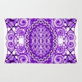 Purple Zentangle Tile Doodle Design Rug