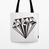 diamond Tote Bags featuring Diamond by Galitt