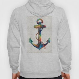 Nautical Anchor Art - Anchors Aweigh - By Sharon Cummings Hoody