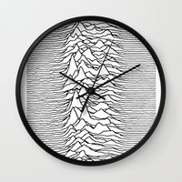 joy division Wall Clocks featuring Joy Division - Chinese by hunnydoll
