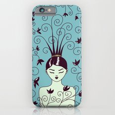 Strange Hair And Flowery Swirls Slim Case iPhone 6s