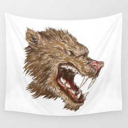 Head with sharp teeth Wall Tapestry