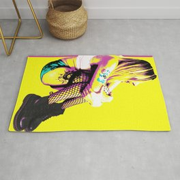 Just Chilling (Pink & Yellow) Rug