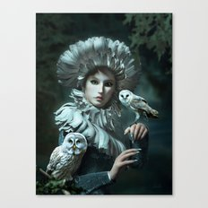 Owls Talk - dedicated to thee_owl_queen Canvas Print