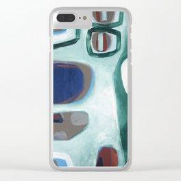 Rock Face Clear iPhone Case