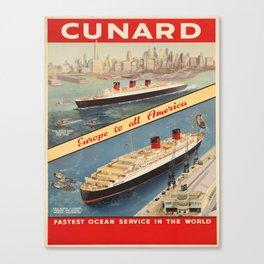 Vintage poster - Cunard Canvas Print
