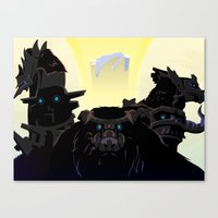 shadow of the colossus Canvas Prints featuring Shadow of the Colossus by Bringerzl