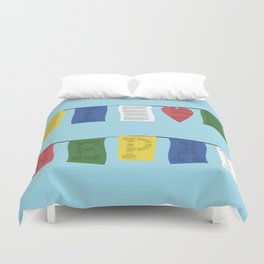 I heart Nepal Duvet Cover