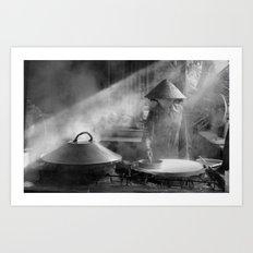 The Rice Noodles Maker   (m) Art Print