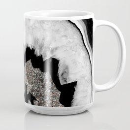 Gray Black White Agate with Silver Glitter #1 #gem #decor #art #society6 Coffee Mug