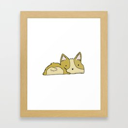 Corgi Bootie Framed Art Print