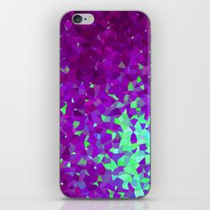 purple and teal abstract shapes iPhone & iPod Skin
