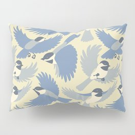 Chickadees  in Blue Pillow Sham