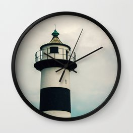 Lighthouse in the Storm Clouds #2 Wall Clock
