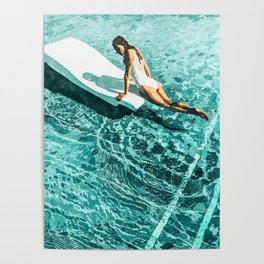 Pool Day #society6 #painting #summer Poster