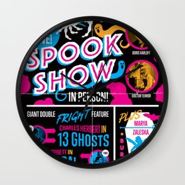 Spook Show Tribute Poster 01 Wall Clock