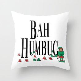 Christmas Bah Humbug Throw Pillow