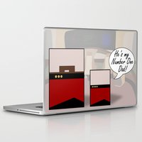 "picard Laptop & iPad Skins featuring ""Number One Dad"" Minimalist Star Trek TNG The Next Generation Picard startrek Fathers Day Father's  by Trektangles"
