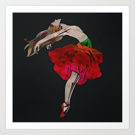 And she rose... Art Print
