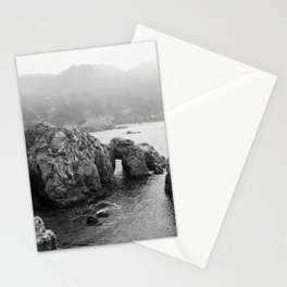 Ocean Arches - Black and White Landscape Photography Stationery Cards