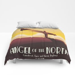 Angel of the North Travel poster. Comforters