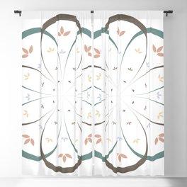 Minimalist floral mandala Blackout Curtain
