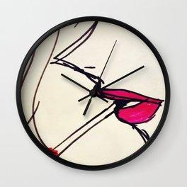 a smoking lady Wall Clock