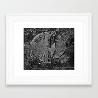 map Framed Art Prints featuring Paris map by Le petit Archiviste
