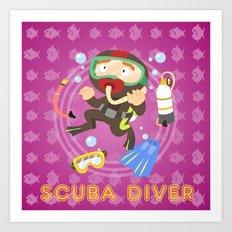 Scuba dive Art Print