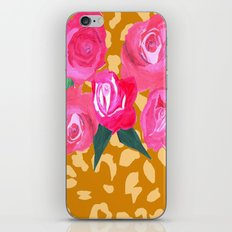Floral and Tiger Print iPhone & iPod Skin