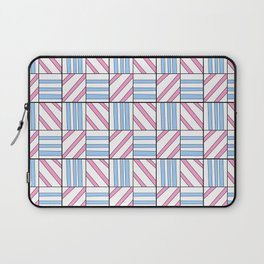 symetric tartan and gingham 6 -vichy, gingham,strip,square,geometric, sober,tartan Laptop Sleeve
