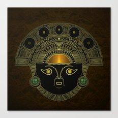 God Sun mask (INTI) Canvas Print