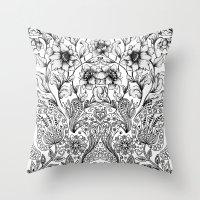 folk Throw Pillows featuring folk by gtrapp